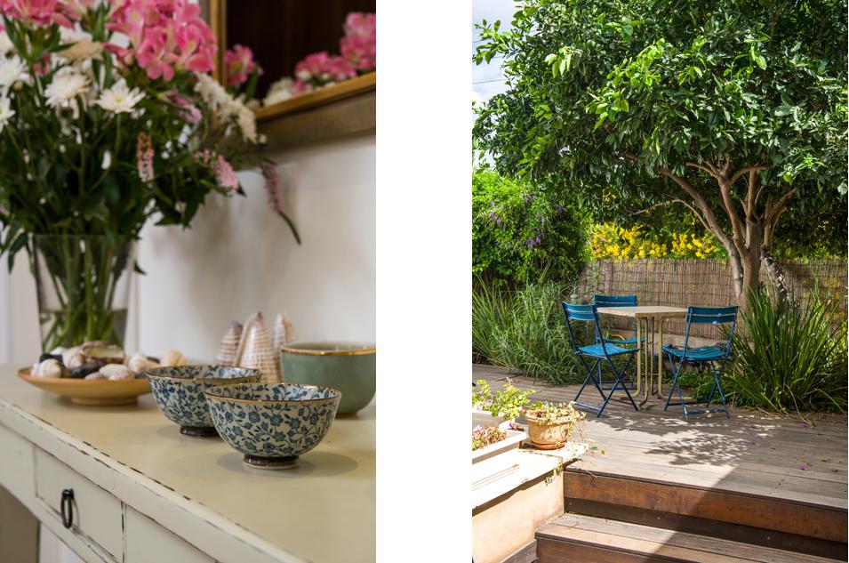 שולחן גן מתחת לתפוז