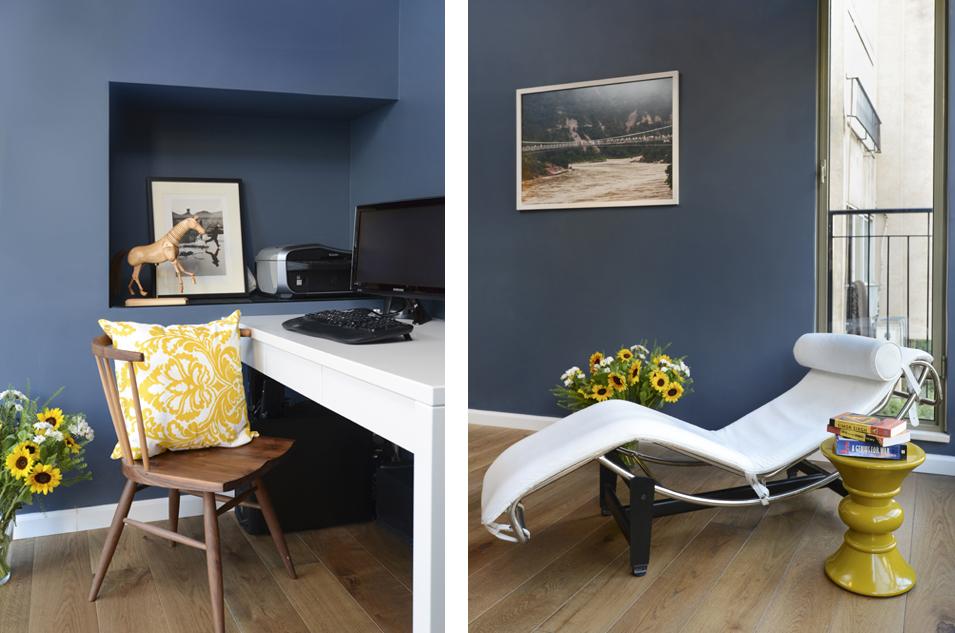 חדר עבודה כחול