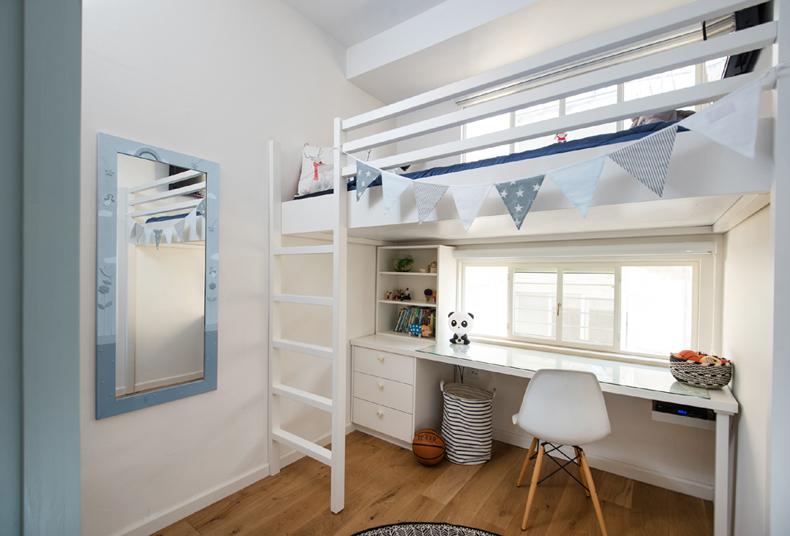 חדר ילדה מבט אלכסוני